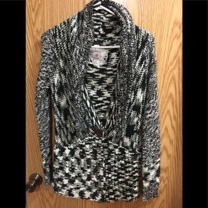 Women's medium element acrylic cardigan sweater.
